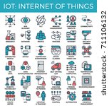iot   internet of things... | Shutterstock .eps vector #711106132
