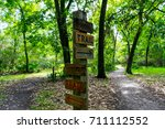 Wooden Trail Sign Where The...