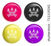 picnic multi color glossy badge ...