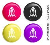 prayer multi color glossy badge ...