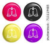 lungs multi color glossy badge...