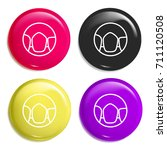 canine multi color glossy badge ...