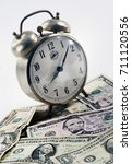 alarm clock and cash for...   Shutterstock . vector #711120556