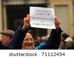 Постер, плакат: demonstration against Berlusconi politics