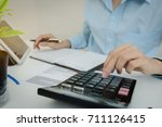 audit concept  business people... | Shutterstock . vector #711126415