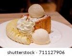 close up of honey toast in... | Shutterstock . vector #711127906