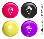 wrap multi color glossy badge...
