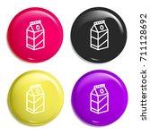 milk multi color glossy badge...