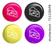 cheese multi color glossy badge ...