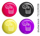 tea multi color glossy badge...