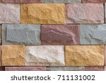 natural color stone plates ... | Shutterstock . vector #711131002