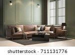interior classic living  retro... | Shutterstock . vector #711131776