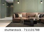 interior classic living  retro... | Shutterstock . vector #711131788