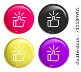 like multi color glossy badge...