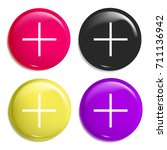 plus multi color glossy badge...