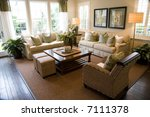 living room with luxury decor. | Shutterstock . vector #7111378
