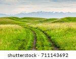 grassland road | Shutterstock . vector #711143692