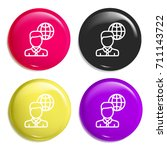 worldwide multi color glossy...