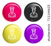 cooker multi color glossy badge ...