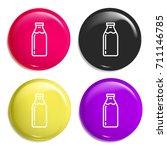milk bottle multi color glossy...