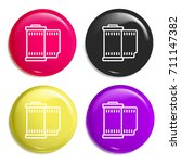 film multi color glossy badge...