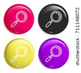 loupe multi color glossy badge...