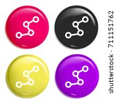 route multi color glossy badge...