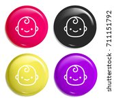 smiling baby multi color glossy ...