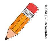 pencil school isolated icon | Shutterstock .eps vector #711151948