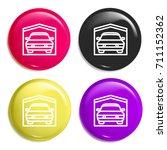 garage multi color glossy badge ...