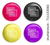 ux multi color glossy badge...