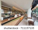 interior of a modern urban... | Shutterstock . vector #711157135