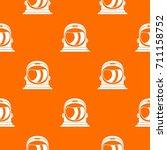 space helmet pattern repeat... | Shutterstock .eps vector #711158752