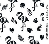 vector seamless pattern with... | Shutterstock .eps vector #711162142