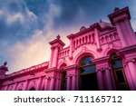 ahsan manzil is one of the most ... | Shutterstock . vector #711165712