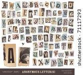 vector set  alphabet based on... | Shutterstock .eps vector #71117293