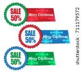 christmas sale banner | Shutterstock .eps vector #711179572