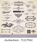 vector set  calligraphic design ... | Shutterstock .eps vector #71117962