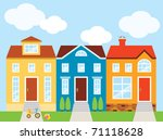 vector illustration of colorful ... | Shutterstock .eps vector #71118628