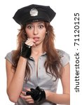 young beautiful police woman... | Shutterstock . vector #71120125