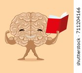 strong brain with a book. | Shutterstock .eps vector #711204166