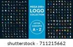 mega logo collection. letter... | Shutterstock .eps vector #711215662