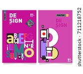 vector covers design set with... | Shutterstock .eps vector #711218752