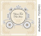 wedding invitation design | Shutterstock .eps vector #71122411