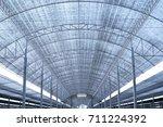 big shading net with steel... | Shutterstock . vector #711224392