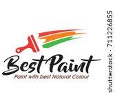 paint logo vector | Shutterstock .eps vector #711226855