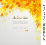 autumn decoration color yellow  ... | Shutterstock .eps vector #711227116