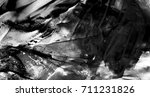 black daub on paper with shades ... | Shutterstock . vector #711231826