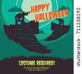 halloween party poster... | Shutterstock .eps vector #711238192