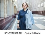 lifestyle portrait of a... | Shutterstock . vector #711243622